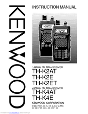 Kenwood TH-K2AT Instruction Manual