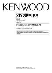 Kenwood XD-351 Instruction Manual