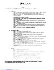 Keurig Coffee Maker B140 Manual : Keurig B100 Manuals
