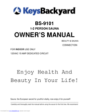 Keys Backyard 1 2 Person Sauna Bs 9101 Manuals