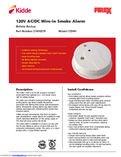 How to install a 120 volt kidde combination smoke and co detector.