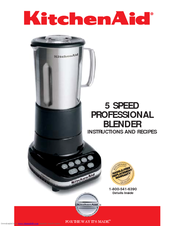 Kitchenaid 5 Speed Blender kitchenaid 5 speed professional blender manuals