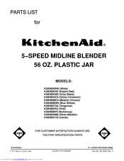 kitchenaid ksb560bw0 parts list pdf download
