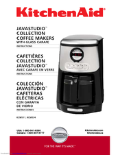 KitchenAid KCM534WH - Programmable Coffeemaker Instruction Manual