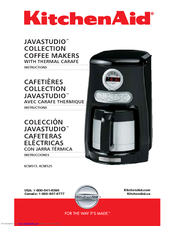 Kitchenaid Programmable Coffee Maker Manual : Kitchenaid KCM515 - JavaStudio Collection Programmable Coffee Maker Manuals