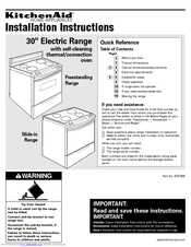 KitchenAid Convection Oven Installation Instructions Manual