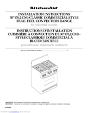 KitchenAid 9759536B Installation Instructions Manual