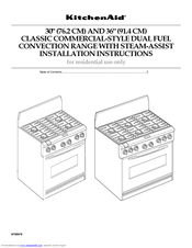 KitchenAid Cooktop Installation Instructions Manual