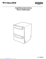 KitchenAid KUDD01DSSS  ARCHITECT Series 24u0027u0027 Double Drawer Dishwasher Installation Instructions Manual 32 Pages