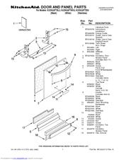 Kitchenaid KUDK03FTSS  Inter Dishwasher w    4    Cycles Manuals