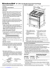 KitchenAid KDRS505X Specification Sheet