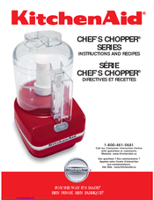 KitchenAid Food Processor Instructions And Recipes Manual