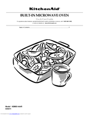 KitchenAid KBMS1454SBL - 24 in. Microwave Oven Use And Care Manual