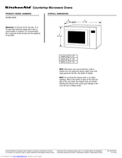 KitchenAid KCMS1555SSS - Countertop Microwave Oven Datasheet