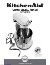 kitchenaid km25g0xwh commercial series stand mixer manuals rh manualslib com kitchenaid artisan stand mixer instruction manual kitchenaid stand mixer operation manual