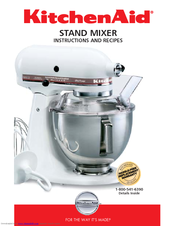 Kitchenaid Ksm90 Instructions And Recipes Manual 70 Pages Stand Mixer