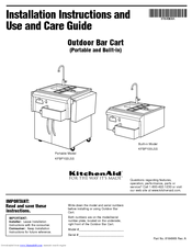 KitchenAid KFBP100LSS Installation Instructions And Use And Care Manual