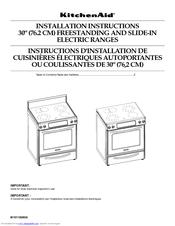 Kitchenaid Kesk901sbl 30 Inch Slide In Electric Range