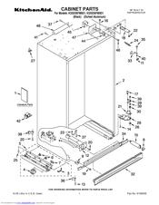 KitchenAid KSSS36FMX01 Cabinet Parts
