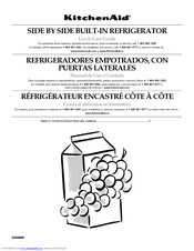 KitchenAid Side-by-Side Referigerator Use And Care Manual