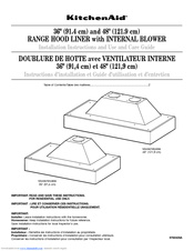 Kitchenaid Range Hood Liner With Internal Blower Manuals