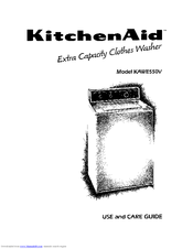 KitchenAid KAWE550V Use And Care Manual