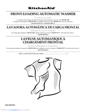 KitchenAid FRONT-LOADING AUTOMATIC WASHER Use And Care Manual