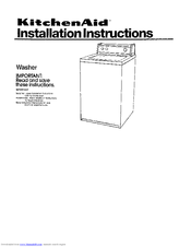 KitchenAid Washer Installation Instructions