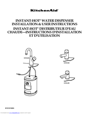 KitchenAid Instant-Hot KHWG260 Installation And User Instructions Manual