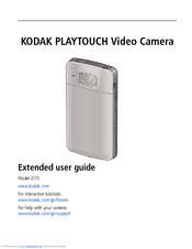 kodak playtouch zi10 extended user manual pdf download rh manualslib com Kodak PlaySport EasyShare M750