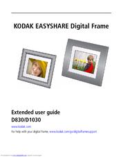 kodak easyshare d830 extended user manual pdf download rh manualslib com kodak easyshare sv710 digital picture frame instructions Kodak EasyShare Cameras