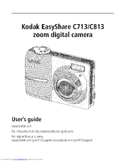 kodak c813 easyshare digital camera manuals Kodak EasyShare Digital Camera Manual Kodak EasyShare Cameras