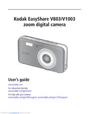kodak v1003 easyshare digital camera manuals rh manualslib com Kodak EasyShare Extended User Guide Kodak EasyShare C310 USB Cable