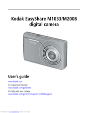 kodak easyshare m1033 user manual pdf download rh manualslib com Kodak EasyShare Z5010 Instruction Manual Kodak EasyShare Z5010 Manual