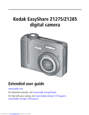 Kodak EasyShare Z1275 Extended User Manual