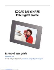 kodak easyshare p86 manuals rh manualslib com kodak easyshare sv710 digital picture frame instructions kodak easyshare ex811 digital picture frame manual