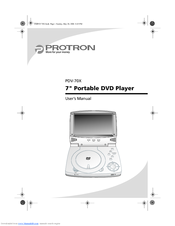 protron pdv 70x manuals rh manualslib com protron dvd player pdv-288 protron portable dvd player manual
