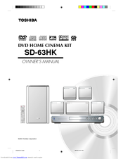 Toshiba SD-63HK Owner's Manual