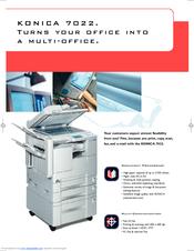 konica minolta 7022 manuals rh manualslib com Konica Minolta Printers Support Konica Minolta Toner Cartridges