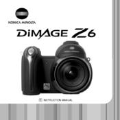 konica minolta dimage dimage z6 instruction manual pdf download rh manualslib com minolta dimage z6 manual DiMAGE Z6 Camera