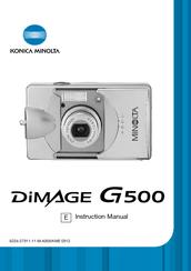 konica minolta dimage g500 manuals rh manualslib com Minolta DiMAGE 7I Minolta DiMAGE Z2