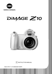 konica minolta dimage z10 instruction manual pdf download rh manualslib com DiMAGE Z6 Camera DiMAGE Z6 Lens Specs