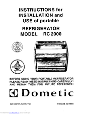 dometic rc 2000 instructions for installation and use manual pdf rh manualslib com Dometic Americana RM2652 Manual Dometic Air Conditioner Problems