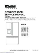 kenmore 795 78402 801 manuals rh manualslib com Kenmore Refrigerator Model Numbers Kenmore Model 106 Refrigerator Manual