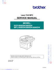 Brother DCP 8085DN Service Manual