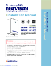 NAVIEN CR-180 INSTALLATION MANUAL Pdf Download. on