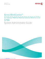Xerox WORKCENTRE 5735 System Administrator Manual