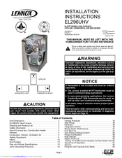lennox gas furnace installation manual