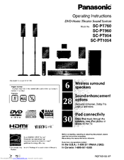 panasonic scpt954 dvd home theater sound system manuals rh manualslib com Panasonic SD Repair Panasonic 5.1 Home Theater