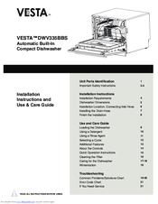 Vesta DWV335BBS Manuals